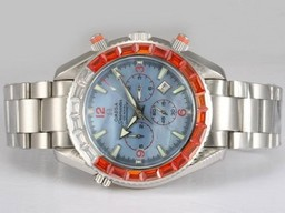 Fake Gorgeous Omega Seamaster Planet Ocean Chronograph Automatic Square Diamon AAA Watches [H8J8]
