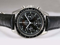 Fake Modern Omega Speedmaster Chronograph Lemania Movement with Black Dial AAA Watches [R2M5]