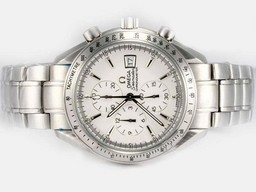 Fake Modern Omega Speedmaster Date 3211.30.00 Working Chronograph Same Chassis as AAA Watches [H6O5]