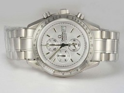 Fake Modern Omega Speedmaster Working Chronograph with White Dial AAA Watches [Q7K3]