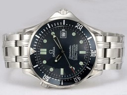Perfect Fake Omega Seamaster automatique avec Black AAA Montres [ C7D8 ]