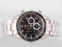 Perfekt gefälschte Omega Seamaster Planet Ocean Chronograph Automatic selben Chassis wie AAA Uhren [ S6S7 ]
