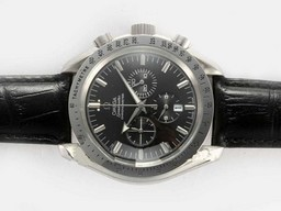 Fake Perfect Omega Speedmaster Working Chronograph with Black Dial AAA Watches [H3X3]