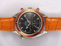 Fake Quintessential Omega Seamaster Planet Ocean Chronograph Automatic with Black Dial AAA Watches [O2R5]