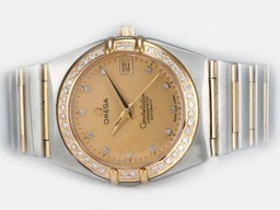 Fake Vintage Omega Constellation Rörelse Med Golden Dial - 14K AAA klockor [ X7C6 ]