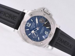 Fake Cool Panerai Luminor Arktos GMT Automatic with Blue Dial-Same Structure As Movement AAA Watches [E2V9]