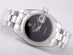 Fake Cool Rolex Datejust Movement Musta Soittaa Lady Koko AAA ke
