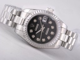 Fake Fancy Rolex Datejust bevægelse med sort Computer Dial AAA U