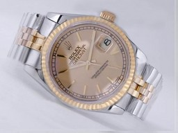 Fake Fancy Rolex Datejust Movement Two Tone Golden Dial AAA kell