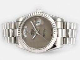 Fake Jobb Rolex Day-Date Automatic med Gray Dial AAA Klokker [ L5P6 ]