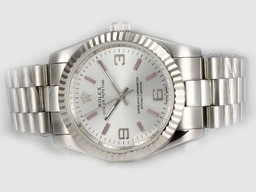 Fake Upea Rolex Air-King Oyster Perpetual Automaattinen Musta So