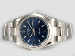 Fake Prachtige Rolex Air -King Precision Automatisch met Blue Dial AAA Horloges [ V1U1 ]