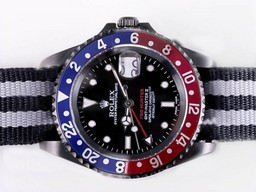 Fake Gorgeous Rolex GMT - Master II Rörelse PVD Case - Pro Hunter AAA klockor [ W3J8 ]