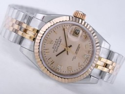 Fake Flott Rolex Datejust Movement Two Tone med Golden Dial AAA Klokker [ S6V2 ]
