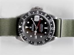 Fake Gran GMT -Master II Caja Rolex Movimiento PVD con Green Dial Relojes AAA [ C9H9 ]