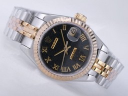 Fake Perfect Rolex Datejust Movement Two Tone AAA Klokker [ U9T6 ]