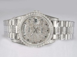 Fake Perfect Rolex Day-Date Automatic Full Diamond Bezel og Dial AAA Klokker [ Q5U2 ]