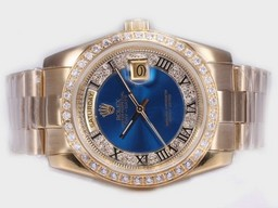 Fake Suosittu Rolex Day-Date Automatic Full Gold Diamond Kehys S