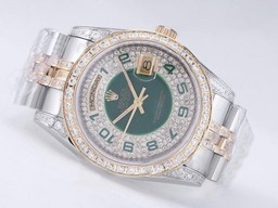 Fake Pohjimmainen Rolex Day-Date Movement Two Tone Diamond Kehys