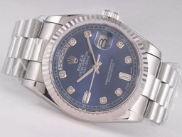 Fake Movimiento Vintage Rolex Day-Date con Blue Dial - Diamond Marca Relojes AAA [ S9O6 ]