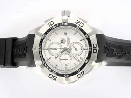 Fake Cool Tag Heuer Aquaracer 300 Meters Working Chronograph Same Chassis As Movement AAA Watches [F7I6]