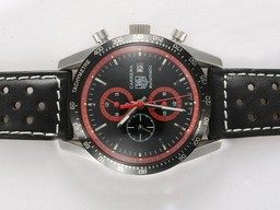 Fake Cool Tag Heuer Carrera Chronograph Automatic with Black Dial AAA Watches [L1F5]