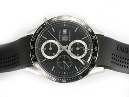 Fake Cool Tag Heuer Carrera Chronograph Automatic with Black Dial-Deployment AAA Watches [D5G5]