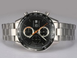 Fake Cool Tag Heuer Carrera Chronograph Automatic with AR Coating Same Chassis As Movement AAA Watches [R7M8]