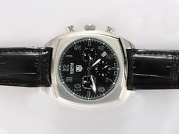 Fake Cool Tag Heuer Monaco Automatic with White Dial-Rubber Strap AAA Watches [H1E1]