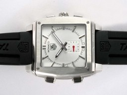 Fake Cool Tag Heuer Monaco Sixty Nine Microtimer Digital with White Dial AAA Watches [N1W2]