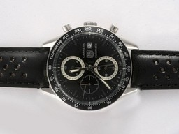 Fake Fancy Tag Heuer Carrera Chronograph Automatic Black Dial and Bezel AAA Watches [T5E2]