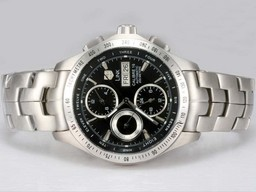 Fake Fancy Tag Heuer Carrera Working Chronograph med Black Dial AAA Klokker [ O8W8 ]