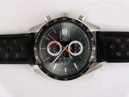 Fake Gorgeous Tag Heuer Carrera Chronograph Automatic with Black Dial and Bezel AAA Watches [G5C5]