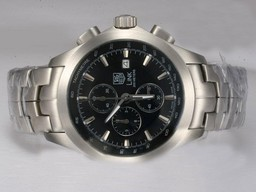 Fake Gorgeous Tag Heuer Carrera Working Chronograph with Black Dial AAA Watches [E2K5]