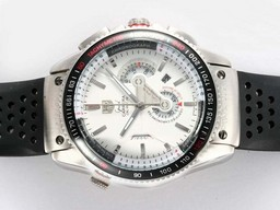Fake Gorgeous Tag Heuer av Grand Carrera Calibre 36 Working Chronograph med White Dial AAA Klokker [ F3Q8 ]