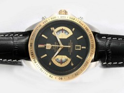 Falso Grande Tag Heuer Carrera Calibre 17 Chronograph Working Two Tone Orologi AAA [ N7N6 ]