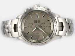 Fake Great Tag Heuer Link 200 Meters Chronograph Automatic with Gray Dial AAA Watches [B6F2]