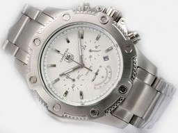 Fake Modern Tag Heuer Carrera Working Chronograph with White Dial AAA Watches [Q8G5]