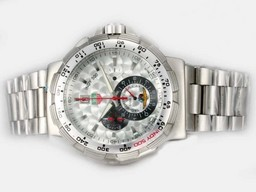 Fake Modern Tag Heuer Formula 1 Working Chronograph with Silver Scale Dial AAA Watches [I2J4]