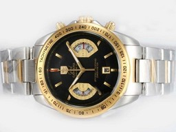 Fake Modern Tag Heuer Grand Carrera Calibre 17 Working Chronograph Two Tone AAA Watches [S1R8]