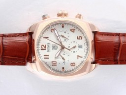 Fake Modern Tag Heuer Link Working Chronograph with White Dial AAA Watches [Q8G1]