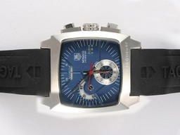 Fake Modern Tag Heuer Monaco Calibre 360 Working Chronograph with Blue Dial AAA Watches [P3Q3]