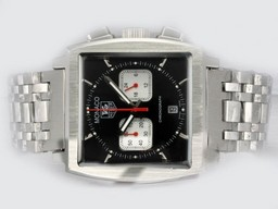Fake Modern Tag Heuer Monaco Working Chronograph with Black Dial AAA Watches [P2F8]