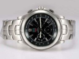 Fake Perfect Tag Heuer Link Calibre 36 Chronograph Automatic with Black Dial AAA Watches [V8C4]