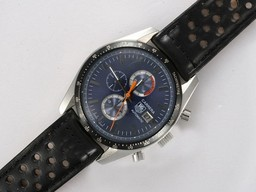 Fake Popular Tag Heuer Carrera Chronograph Automatic with Blue Dial AAA Watches [Q5I3]