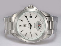 Fake Quintessential Tag Heuer Grand Carrera Calibre 6 with White Dial AAA Watches [O9B3]