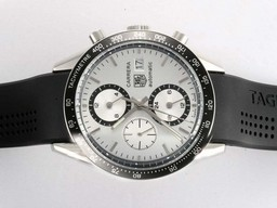 Fake Vintage Tag Heuer Carrera Chronograph Automatic Black Dial and Bezel AAA Watches [D4O1]