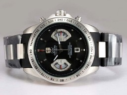 Fake Vintage Tag Heuer Grand Carrera Calibre 17 Working Chronograph with Black Dial AAA Watches [U4D1]