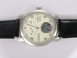 Fake Cool Vacheron Constantin Tourbillon Regulateur Automatic with White Dial AAA Watches [I4M5]