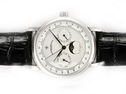 Fake Fancy Vacheron Constantin Classic Chronograph Automatic with White Dial AAA Watches [W5A7]